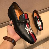 новый стиль мальчиков обувь оптовых-Best New Shoes классические туфли для мужчин известные роскошные мужские свадебные туфли из натуральной кожи высокого качества плоские мокасины новый стиль кроссовки для мальчиков