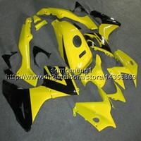 ingrosso cavalletti honda cbr125r-Botls + Gifts articolo moto giallo Per Honda CBR125R 2002-2007 2003 2004 2005 2006 Kit carenatura motore ABS