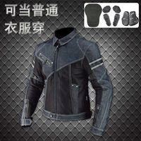 Wholesale motorcycle mesh jacket resale online - Komine JK Vintage Denim Mesh Jacket summer breathable motorcycle jacket racing jacket