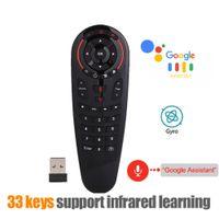 ingrosso chiave android tv box-G30 Telecomando 2.4G Wireless Voice Air Mouse 33 tasti IR apprendimento Gyro Sensing Smart Remote Gamepad per giochi Android TV Box