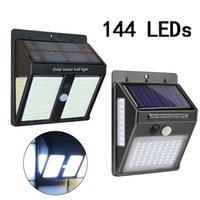 luzes de poste de luzes ao ar livre venda por atacado-146 Led Outdoor Led Solar impermeáveis luzes Jardim Led Lampen Solar Lâmpada de parede Branco Frio Lanterna Para Borne