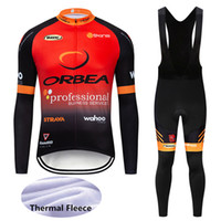 Wholesale orbea bike cycling long online - 2019 ORBEA Winter Thermal Fleece Long Sleeves Cycling Jersey Mountain Bike Clothes Racing Sportswear Bicycle Clothing Ropa Ciclismo Y