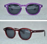 f936cff6586 Moscot Lemtosh Men Polarized Sunglasses Women Round Sun Glasses New York  Polarized Lenses Sun Glasses 1915 with Original Case AAAAA+ Quality