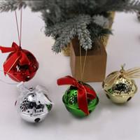 pequenas decorações de árvore de natal venda por atacado-Bell de Natal Árvore de Natal ornamentos pendurados Party Decor Xmas Tree Decoration Decoração pequeno sino de Natal dom pendant Craft