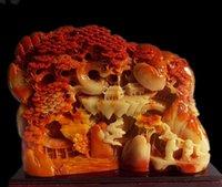 China Shoushan stone hand-carved natural landscape Matsushita Old man statue