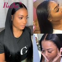 açık kahverengi dantel perukları toptan satış-Siyah Kadınlar Için 360 Tam Dantel Frontal Peruk Koyu Açık Kahverengi Renkli Düz İnsan Saç Dantel Ön Peruk Tutkalsız Brezilyalı Dantel Peruk Ruiyu