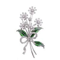 corea joyas de lujo al por mayor-Corea lujo micro con incrustaciones de circonio broche de flores para mujer de gama alta traje chaqueta de punto accesorios temperamento elegante damas pin joyería