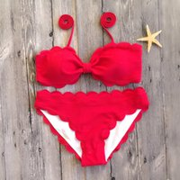 roter schwarzer spitzenbadeanzug großhandel-Fulaigesi Bikini Badeanzug Frauen Sexy Pink Schwarz Rot Lace Bademode Badeanzug für Beachwear Beach Low Waist Bikini Set 2019