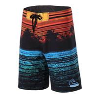 longitud de viaje al por mayor-Shoreline summer men surf surf shorts deportes playa tejido de alto nivel medio recorrido de natación shorts de secado rápido más tamaño