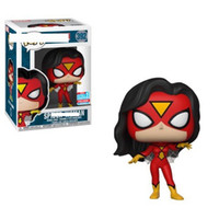 Wholesale spider woman figure resale online - New arrival Funko Pop spider women Vinyl Action Figure With Box Gift for kids toy