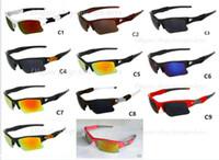 классные бесплатные солнцезащитные очки оптовых-Новый прохладный Мужчины Женщины солнцезащитные очки Мода открытый Велоспорт солнцезащитные очки Очки Спорт солнцезащитные очки бесплатная доставка 11color
