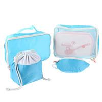 Wholesale set mother bags resale online - 4pcs set Portable Mother Infant Travel Package Bag Waterproof Storage Bag
