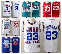 camisa de basquete azul 23 venda por atacado-Mens 23 MichaelVermelho Verde Azul Branco Jordan Retro Jersey ChicagoBulls All-Star costurado Basketball Jerseys malha Vintage 2020