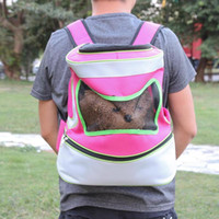 Wholesale blue dog carriers resale online - Pet Dog Carrier Bag Folding Breathable Mesh Dogs Bag Carrying for Cats Puppy Outdoor Travel Backpack S L Size Pink Blue