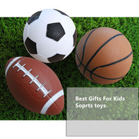 ingrosso palle di calcio americano-14.5cm diametro gonfiabile calcio pallacanestro football americano giocattolo preschool puntelli bambini sport abilità formazione giocattoli gonfiabili palla
