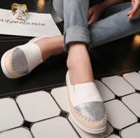 mode pflege schuhe großhandel-Mode flache schwarze Schuhe für Frauen Casual Slip on Loafers Ballerinas Krankenschwester Schuhe Frau Espadrille Teni Plu Größe