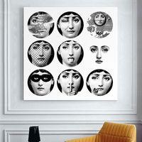 ingrosso vernici frameless per soggiorno-Fornasetti Dipinti Frameless Modern Retro Regali Wall Art Quotazioni Bedroom Decor For Living Room J190707