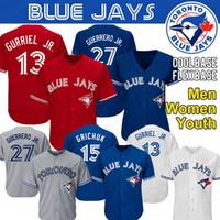 nylon jersey hemden großhandel-Benutzerdefinierte Toronto Vladimir Guerrero Jr. Blue Jays Trikot Roberto Alomar Carter Randal Grichuk Smoak Royal Stroman Baseball-Shirts
