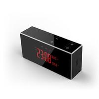 video reloj despertador al por mayor-Envío gratis 4K HD IR visión nocturna WIFI reloj despertador cámara Reloj inalámbrico grabador de video Max 128G