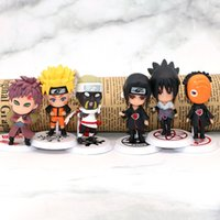 ingrosso bambola di sakura-6 pz / lotto 7 cm Anime Naruto Figure Toy Sasuke Kakashi Sakura Gaara Itachi Obito Madara Killer Bee Mini Modello Doll per Bambini L