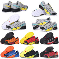 Wholesale table crosses resale online - hot salomon shoes speedcross CS mens women athletic shoes running shoes speed cross IV black red outdoor hiking sports sneakers
