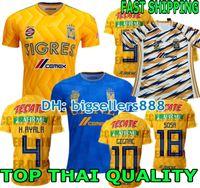 CALIDAD SUPERIOR 18 19 camiseta de fútbol del club Tigres UANL de México  Casa amarilla 6 Estrellas 2018 2019 GIGNAC Vargas H. Ayala Camiseta de  fútbol azul ... 370e2ca543e81
