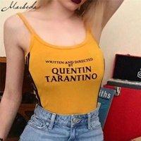 roupas de trabalho macacão venda por atacado-Macheda 2017 Moda Sexy Algodão Bodysuits de Verão Mulheres Amarelo Stripe Romper Macacão Feminino Macacão de Verão Magro Roupas de Trabalho