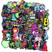 Wholesale neon guitars for sale - Group buy 75 bag Mixed Car Stickers Neon Graffiti For Laptop Helmet Skateboard Stickers Pad Bicycle Motorcycle PS4 Phone Notebook Guitar Decal Pvc