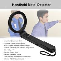 elle tutulan güvenlik metal dedektörleri toptan satış-El Katlanabilir Metal Dedektörü Yüksek Hassasiyet Tarayıcı Güvenlik Enstrüman El Metal Checker Yuvarlak TS-80 Güvenlik Dedektörü Aracı