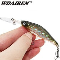 Wholesale sinking minnow lures resale online - 1PCS Laser Sinking Slowly Minnow Fishing Lure CM G Wobbler Artificial Fly Fishing Hard Bait Carp Crankbait Fishing WD