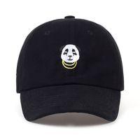Wholesale panda hat men for sale - Group buy new Panda Gold Chains Baseball Cap Curved Bill Dad Hat men women Cotton golf snapback cap hats