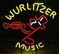 Wholesale neon sign music resale online - New Star Neon Sign Factory X14 Inches Real Glass Neon Sign Light for Beer Bar Pub Garage Room Wurlitzer Music TN892