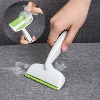 Wholesale carpet roller brush resale online - Sofa Bed Clean Brushes Double Head Green Color Clothes Dust Remover Household Cleaning Tools Hot Sale tx E1
