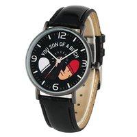 смотреть фильм человека оптовых-Повседневный кожаный ремешок с пряжкой Pin Кварцевые часы для мужчин Fashion Movie Line Series Часы для женщин Белые арабские цифры циферблат наручные часы