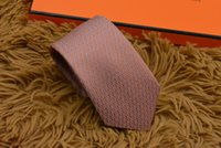 Wholesale mens tie resale online - 18 style Mens tie high quality silk tie fashion brand gift box cm classic edition brand men s casual narrow tie h68902