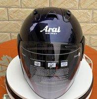 cascos de orden al por mayor-ARAI R4 casco de la motocicleta 3/4 abierta de la cara del casco de la vendimia casco de moto 2 órdenes