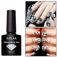 leimspitzen für nägel großhandel-LULAA 7.5ML Nagelkleber für Strasssteine DIY Art Nail Tips High QualityPolish Glue Strasskleber Sticky Tools UV Gel C529