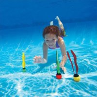 plaj seti oyuncakları toptan satış-3 adet / takım Sualtı Yüzme Plaj Dalış Oyuncak Çocuk Havuzu Eğitim Oyuncak Batan Eğlenceli Topları Dalış Oyuncaklar Su Sporları Aksesuarl ...