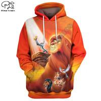 Wholesale lion king hoodies sweatshirt online – oversize Newest casual the Lion King Simba D cartoon hoodies sweatshirts shirt print the Men women slim long sleeve streetwear TL021