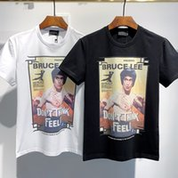 Wholesale top italy for sale - Group buy 2020 Spring Summer Luxury Europe Italy Bruce Lee Dont Think Feel Tshirt Fashion mens designer t shirts Women Cotton short sleeve Top