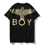 ingrosso logo animale logo-T-shirt boy eagle con logo posteriore di nuovo logo per gli amanti del design di animali sia maschili che femminili