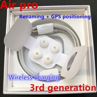 Wholesale 5pc with Valid Serial Number headphone Air pro H1 chip Renamed headset nd rd generation Wireless Charging Bluetooth Earphones with GPS