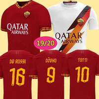 Wholesale soccer jerseys thailand xxl for sale - Group buy Thailand DZEKO PEROTTI PASTORE ZANIOLO soccer jersey rome TOTTI jersey football kit shirt DE ROSSI as maillot de foot roma
