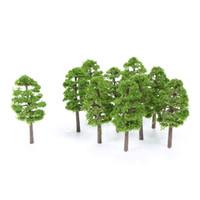 escala de modelos de plástico venda por atacado-heap modelo de construção Kits 60pcs Miniature Ho Scale Plastic Modelo árvores para construção Trens Railroad layout Cenário Acessórios Paisagem t ...