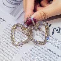 ohrringnägel großhandel-S925 Silber koreanische Ohrringe Ohrringe Mode lange ein Ohr Nagel Diamant Geometrie Kreis Eardrop Concise Ohrring Frau Schmuck 2018