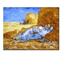 resim sanat eseri toptan satış-Vincent Van Gogh Gand Work Of istirahat Üreme yağlıboya tuval Duvar Sanatı Resim Için Oturma Odası Ev Dekorasyon Yok Çerçeveli