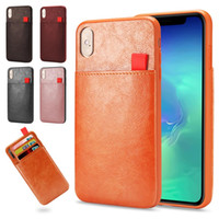 Wholesale cell phones wallets resale online - For iPhone Pro Max Plus Wallet Case Luxury PU Leather Cell Phone Back Case Cover For iPhone X XR XS Max With Credit Card Slot