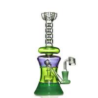 renkli kül yakalayıcı toptan satış-kafa küçük su borusu büyük büyük bonglar ot kase boruları coloreful pembe Recycler kül tutucu bong Renkli cam beher