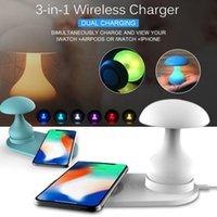 cogumelo lâmpada de mesa branco venda por atacado-Multi-funções em 3 1 10W Fast Charge sem fios lâmpada Carregador cogumelo Tabela 16 cores base de carregamento para Samsung Glaxy Nota 10 5G