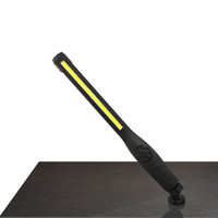 station base großhandel-Led Cob Work Light 410 Lumen Autotankstelle Slim Fixed Base Professionelle Super Bright wiederaufladbare USB-Taschenlampen Q190601